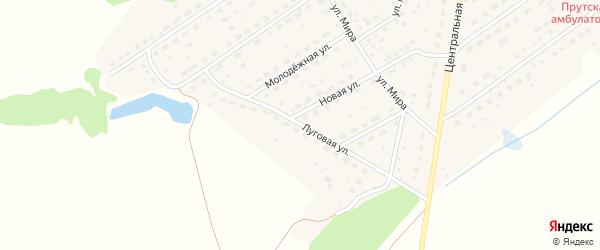 Луговая улица на карте Прутского поселка с номерами домов