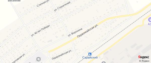 Улица Воронина на карте Черемного села Алтайского края с номерами домов