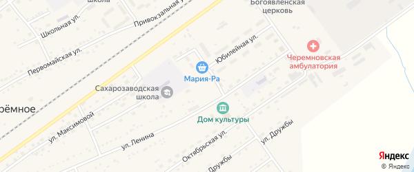 Покровский переулок на карте Черемного села Алтайского края с номерами домов
