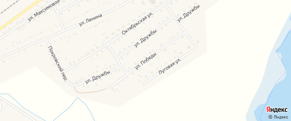 Улица Победы на карте Черемного села с номерами домов