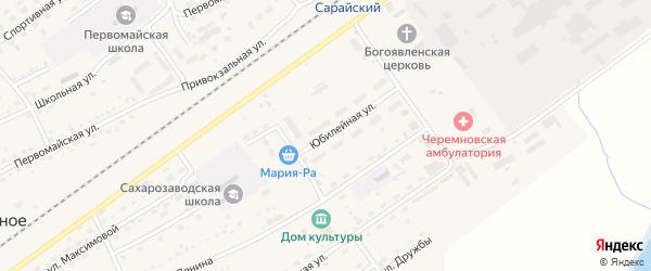 Юбилейная улица на карте Черемного села Алтайского края с номерами домов