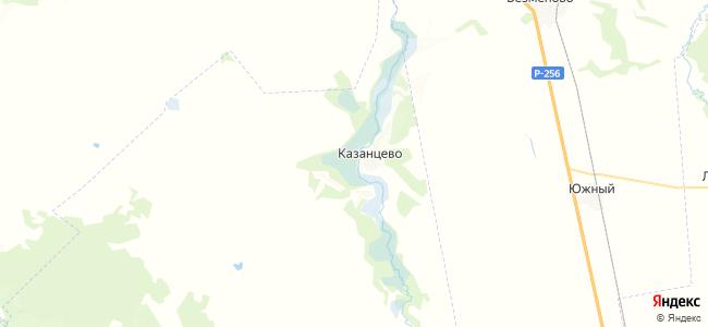 Казанцево на карте