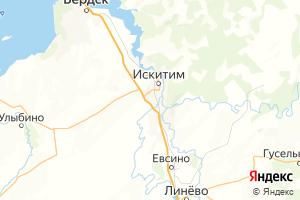Карта г. Искитим Новосибирская область
