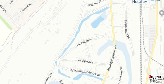Улица Авроры в Искитиме с номерами домов на карте. Спутник и схема онлайн