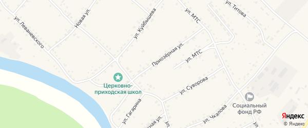 Приозерная улица на карте села Усть-Калманки с номерами домов