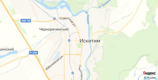 Карта Искитима с улицами и домами подробная. Показать со спутника номера домов онлайн