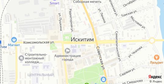 Заречный переулок в Искитиме с номерами домов на карте. Спутник и схема онлайн
