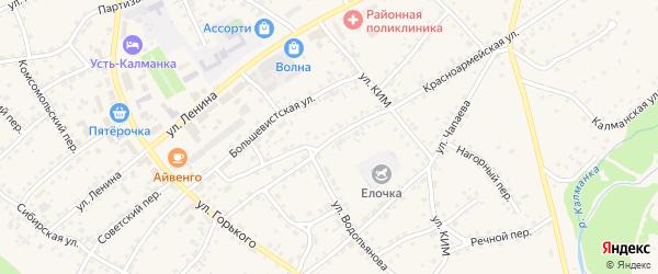 Красноармейский переулок на карте села Усть-Калманки с номерами домов