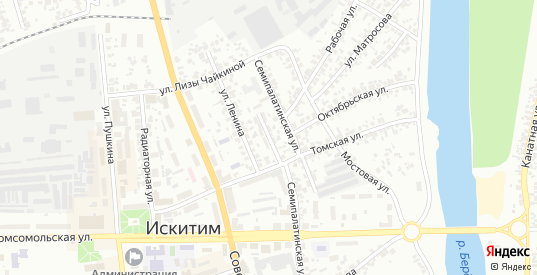 Томский переулок в Искитиме с номерами домов на карте. Спутник и схема онлайн
