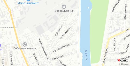 Улица Матросова в Искитиме с номерами домов на карте. Спутник и схема онлайн