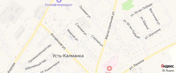 Степная улица на карте села Усть-Калманки с номерами домов