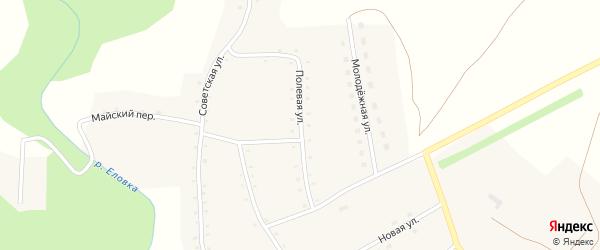 Полевая улица на карте села Курочкино с номерами домов