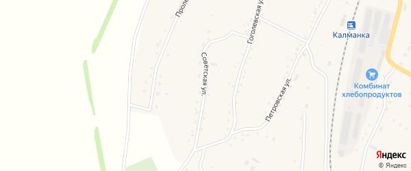 Советская улица на карте села Новороманово Алтайского края с номерами домов
