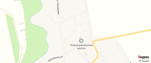 Спортивный переулок на карте села Новокалманки с номерами домов