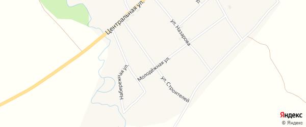 Улица Строителей на карте села Новокалманки с номерами домов