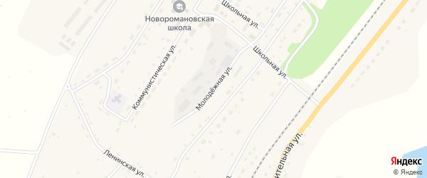 Молодежная улица на карте села Новороманово с номерами домов