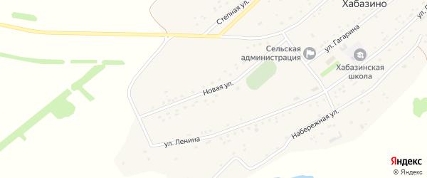Новая улица на карте села Хабазино Алтайского края с номерами домов