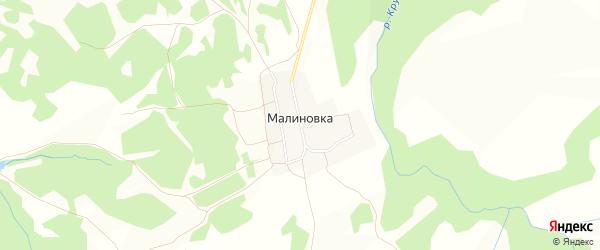 Карта поселка Малиновки в Новосибирской области с улицами и номерами домов