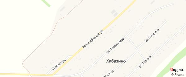 Молодежная улица на карте села Хабазино Алтайского края с номерами домов