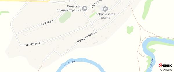 Набережная улица на карте села Хабазино Алтайского края с номерами домов