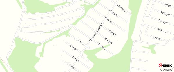 7-я улица на карте территории сдт Нектара с номерами домов