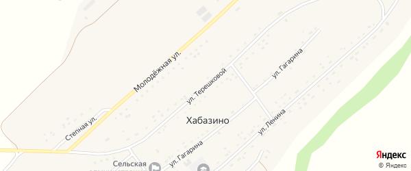 Улица Терешковой на карте села Хабазино Алтайского края с номерами домов