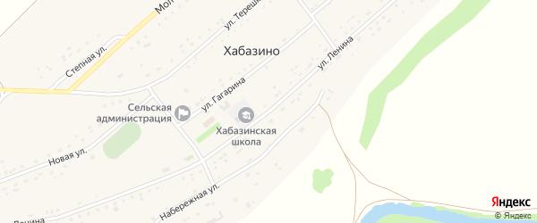 Улица Ленина на карте села Хабазино Алтайского края с номерами домов