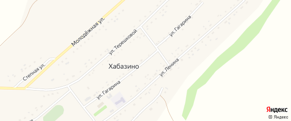 Улица Гагарина на карте села Хабазино Алтайского края с номерами домов