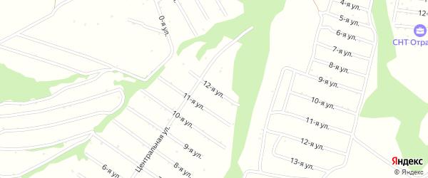 12-я улица на карте территории сдт Нектара с номерами домов
