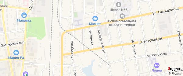 Улица Чехова на карте Черепаново с номерами домов