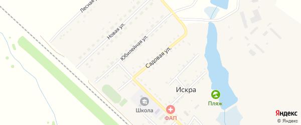 Садовая улица на карте поселка Искры Новосибирской области с номерами домов