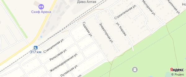 Садовая улица на карте поселка Новые Зори с номерами домов