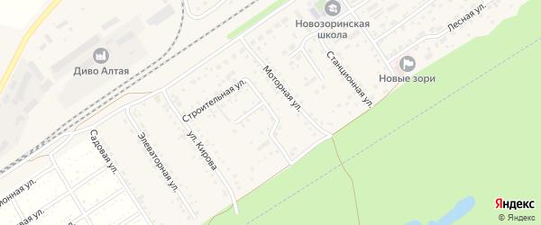 Клубный переулок на карте поселка Новые Зори Алтайского края с номерами домов