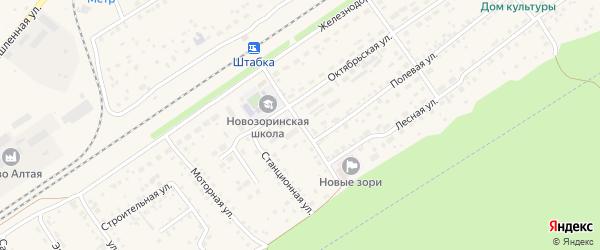 Школьный переулок на карте поселка Новые Зори с номерами домов