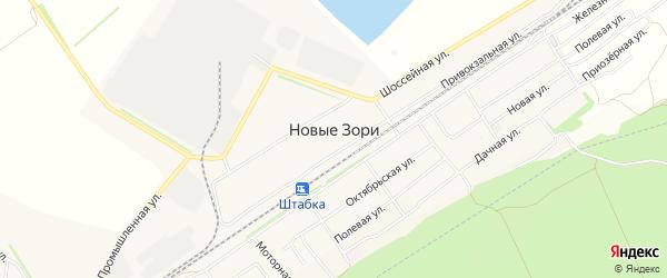 Карта поселка Новые Зори в Алтайском крае с улицами и номерами домов