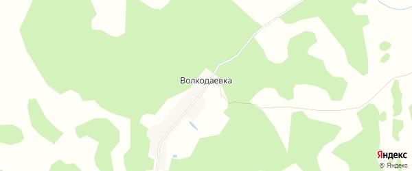 Карта деревни Волкодаевки в Томской области с улицами и номерами домов