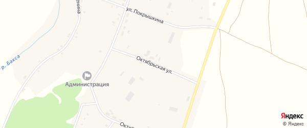 Октябрьская улица на карте села Старой Ювалы Томской области с номерами домов
