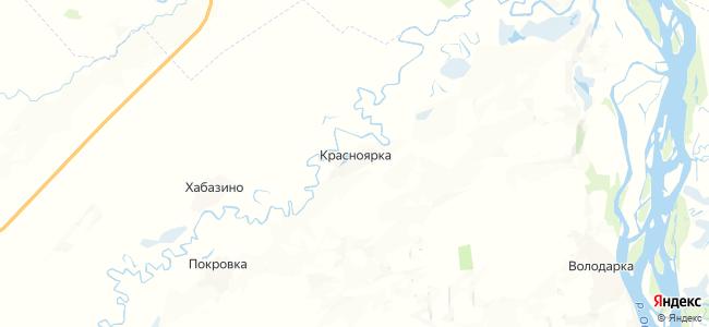 Красноярка на карте