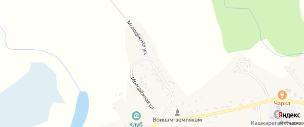 Молодёжная улица на карте села Кашкарагаихи Алтайского края с номерами домов