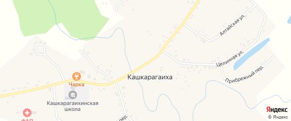 Прибрежный переулок на карте села Кашкарагаихи с номерами домов