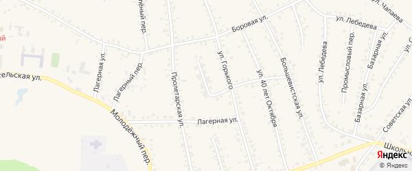 Западный переулок на карте поселка Тальменки Алтайского края с номерами домов