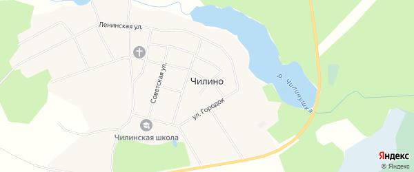 Карта села Чилино в Томской области с улицами и номерами домов