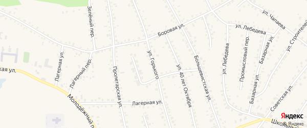 Улица М.Горького на карте поселка Тальменки Алтайского края с номерами домов