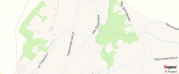 Переулок Кривцова на карте села Огни с номерами домов