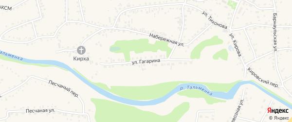 Улица Гагарина на карте поселка Тальменки Алтайского края с номерами домов