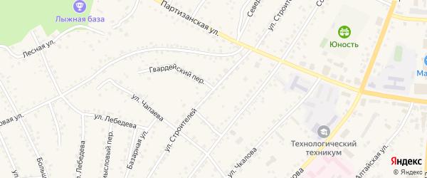 Улица Строителей на карте поселка Тальменки Алтайского края с номерами домов
