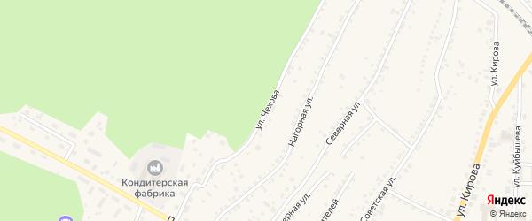 Улица Чехова на карте поселка Тальменки с номерами домов
