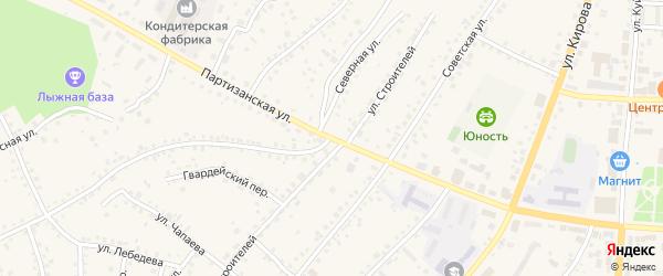 Партизанская улица на карте поселка Тальменки Алтайского края с номерами домов