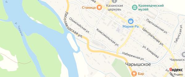 Лесозаводская улица на карте Чарышского села с номерами домов