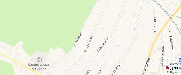Нагорная улица на карте поселка Тальменки Алтайского края с номерами домов